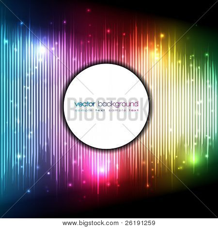 Abstract Vector Colorful Equalizer Background