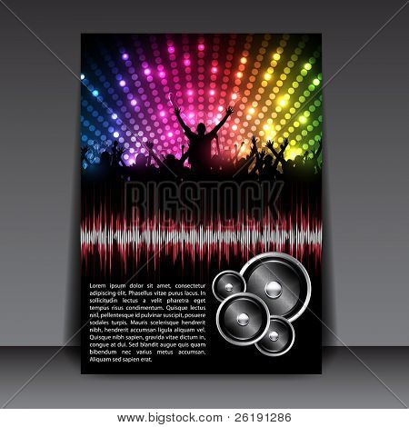 Colorful EPS10 Flyer Design – Sensation Party - Vector Background