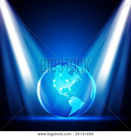Stage Lights with Globe - EPS10 Vector Design
