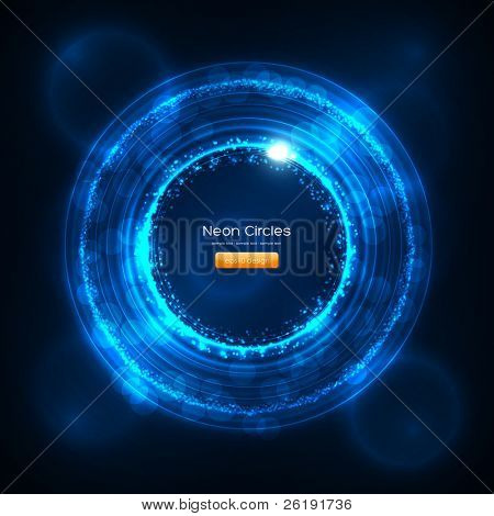 EPS10 Neon Circles Abstract Vector Background
