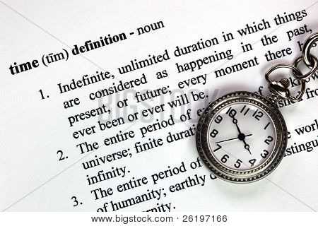 Pocket Watch And Time Definition