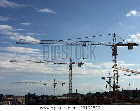 Group of jib cranes