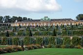 Travel in Germany. Potsdam. Palace of Frederick the Great King of Prussia Sans Souci poster