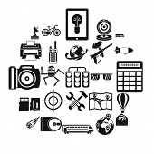 Hi-tech Icons Set. Simple Set Of 25 Hi-tech Vector Icons For Web Isolated On White Background poster