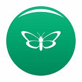 Nice Butterfly Icon. Simple Illustration Of Nice Butterfly Vector Icon For Any Design Green poster