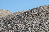 Breakstone Background. Road Gravel. Gravel Texture. Crushed Gravel Background. Piles Of Limestone Ro poster
