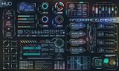 Hud Ui For Business App. Futuristic User Interface Hud And Infographic Elements poster
