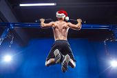 Holidays And Celebrations, New Year, Christmas, Sports, Bodybuilding, Healthy Lifestyle - Muscular H poster