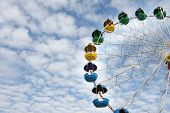 image of ferris-wheel  - ferris wheel on sky background - JPG