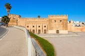The Kasbah Of The Udayas Fortress In Rabat In Morocco. The Kasbah Of The Udayas Is Located At The Mo poster