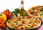stock photo of italian food  - Image about pizza and italian kitchen - JPG