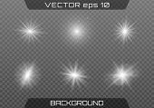 White Glowing Light Burst Explosion With Transparent. Vector Illustration For Cool Effect Decoration poster