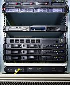 Extensive server configuration in a rack at a data center