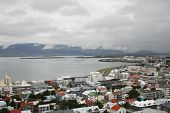 Reykjavik In Iceland Near The Bay