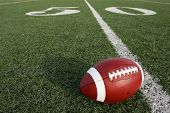picture of football field  - Football on the Field near the Fifty - JPG