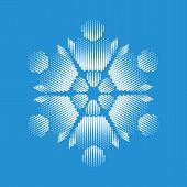 Nice Snowflake Icon. Simple Illustration Of Nice Snowflake Icon For Web poster