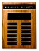 image of employee month  - Wooden  - JPG