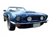 1979 Aston Martin Volante V8, isolated with clipping path