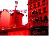 stock photo of moulin rouge  - moulin rouge - JPG