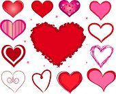 picture of valentine heart  - vector valentine hearts - JPG