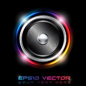 EPS10 Abstract Futuristic Speaker with Glowing Lights Behind - Vector Background