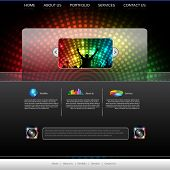 pic of musical symbol  - EPS10 Music Website Template  - JPG