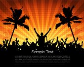 stock photo of beach party  - EPS10 Party People Vector Background  - JPG