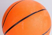 Orange Color Basketball Over White Background. Basketball Isolated poster