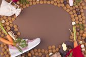 Dutch Holiday Sinterklaas Background With Pepernoten.traditional Sweets And Gifts For Children For T poster
