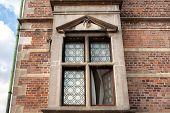 Sculpture Guard Over Window The Royal Rosenborg Castle, Built In 17th Century. Historical Landmarks  poster