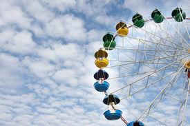 foto of ferris-wheel  - ferris wheel on sky background - JPG