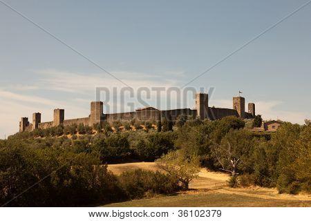 The Monteriggioni Castle