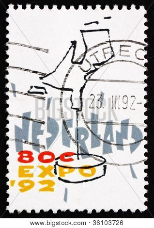 Postage stamp Netherlands 1992 Dutch Map, EXPO 92