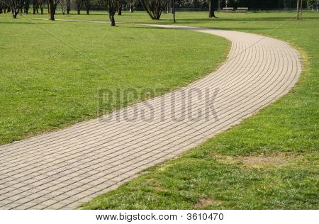 Walkway In A Park