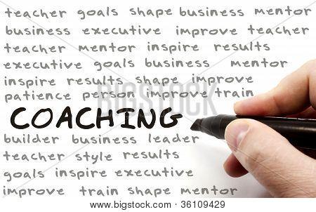 Hand Writing Coaching Concept