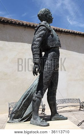 Statue Of a Torero In Ronda, Spain