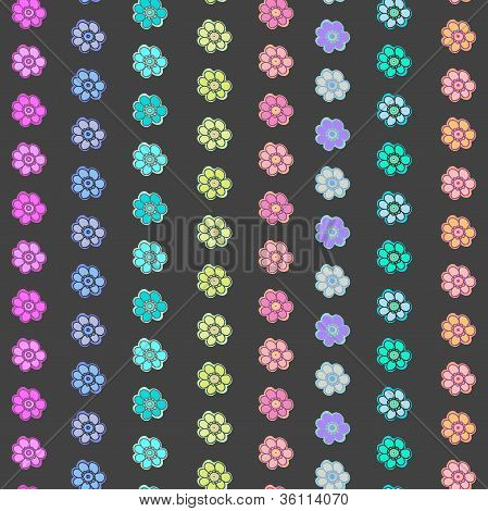 Vector Flower Pattern. Seamless Cute Spring Or Summer Floral Pattern. Background With Flowers.
