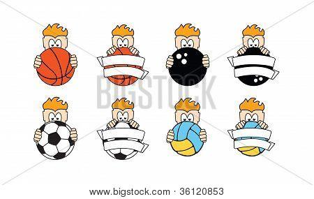 kids sport school logo