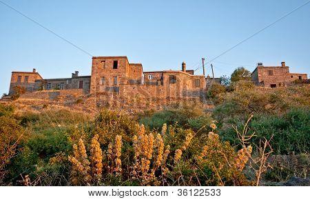 Casas de pedra histórica no Behramkale / Assos - Turquia