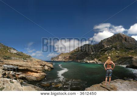 Sexy Girl At Cala Figuera (Cabo Formentor, Mallorca)