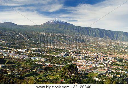Orotava valley and volcano Teide (Tenerife)