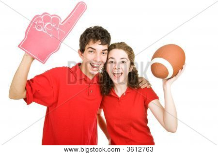 Teen Couple - Football Fans