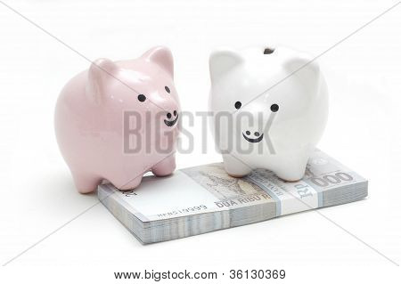 Pingky White Piggy Bank