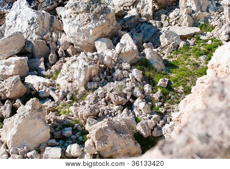 Stone Abyss In Rocks
