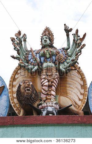 hindu god in hindu temple