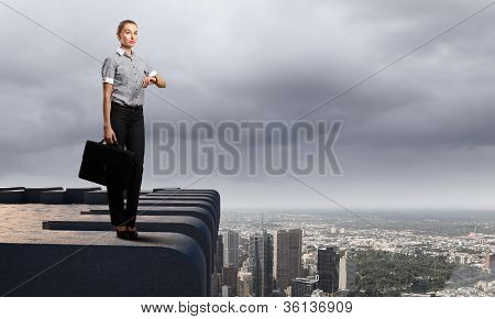 Businessman and cityscape