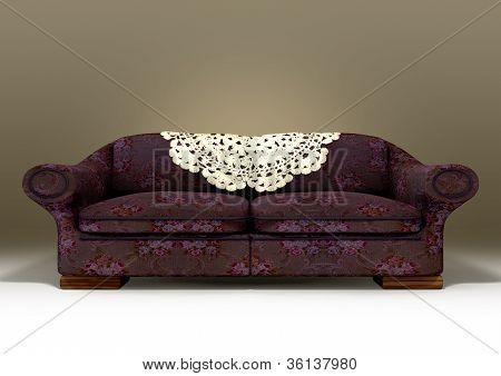 Old Floral Sofa