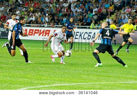 Odessa, Ukraine - August 219, 2012: A Football Match Between Shakhtar Donetsk And Chernomorets Odess