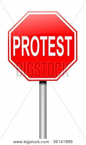 Protest Concept.