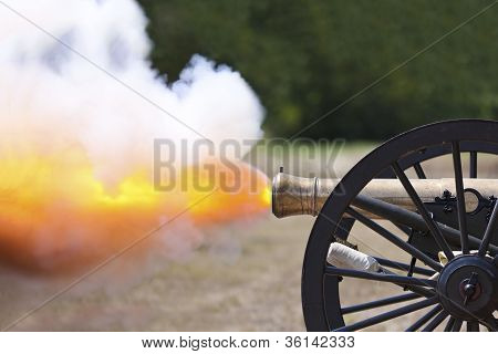 Civil War Cannon Firing